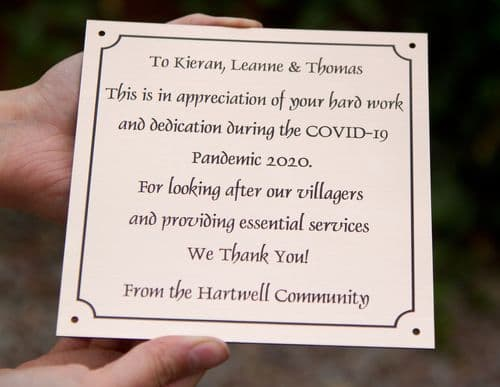 Engraved Memorial Plaques - lots of colours | The Sign Maker Shop